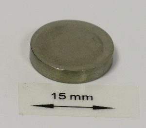 OrigaTip - Nickel Sample Pellet ø15x3