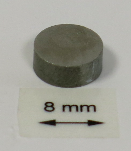 OrigaTip - Tungsten Steel Sample Pellet ø8x3